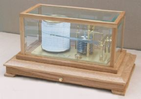 The Norfolk display barograph in oak with bevelled glass
